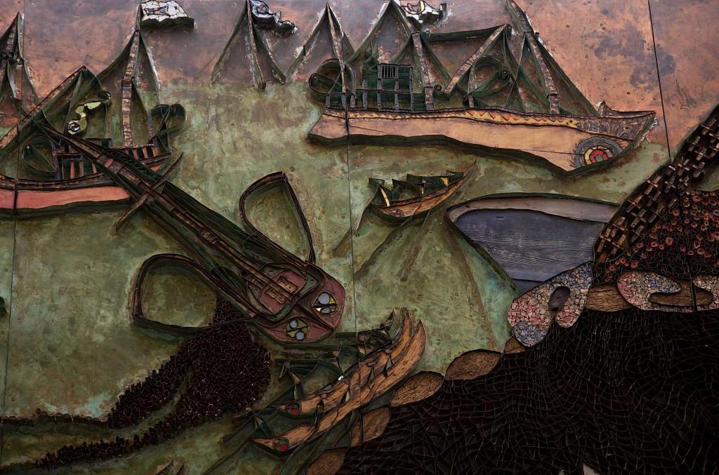 """""""Sildefiske"""" av Rolf Nesch"""