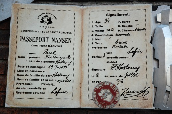 Minnesmerke over Fridtjof Nansen av kunstneren Thomas Qvarsebo. Ved Oslo Rådhus.