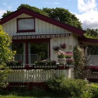 Hjemmets Kolonihager  - hvitt hus