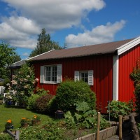 Hjemmets Kolonihager  - rødt hus