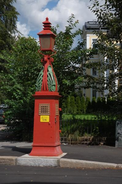 Nedstigningstårn på hjørnet Frognerveien - Eckersbergsgate