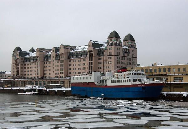 MS Innvik til kai ved Havnelageret